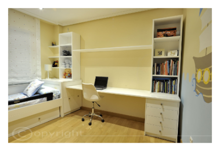 Dormitorio junior blanco